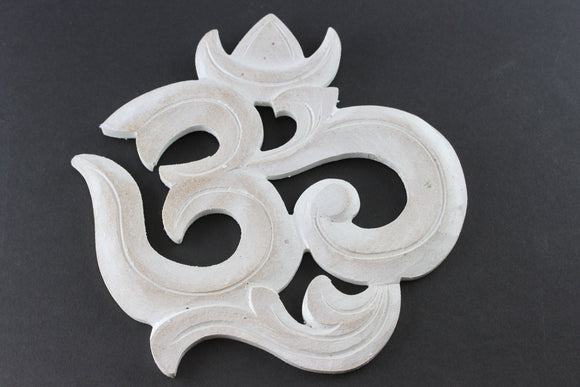 Om Wall Art- White Washed