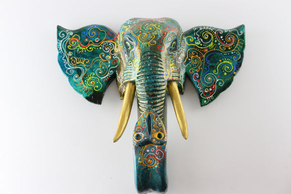 Painted Elephant Head