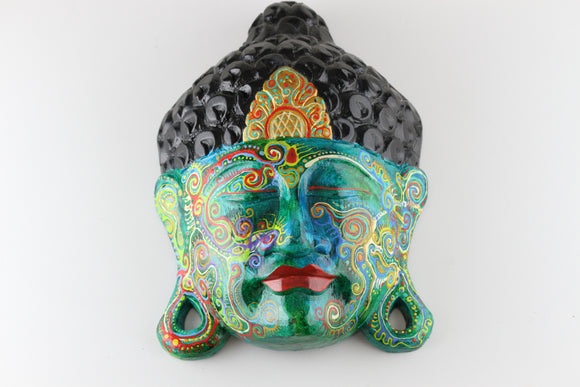 Painted Buddha Head