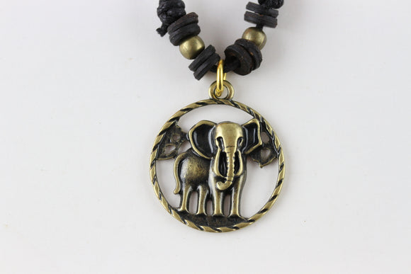Brass Elephant Necklace