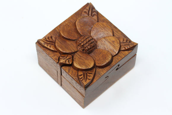 Jasmine Flower Wooden Puzzle Box