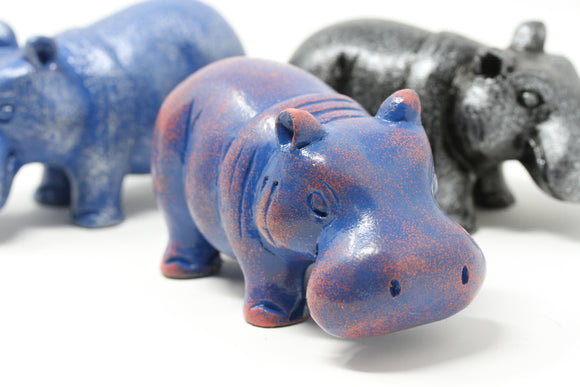 Chunky Hippos - Hand Carved Wooden Hippo