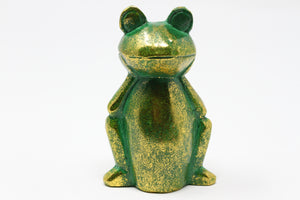 Happy Frogs Carved Wooden Sculptor