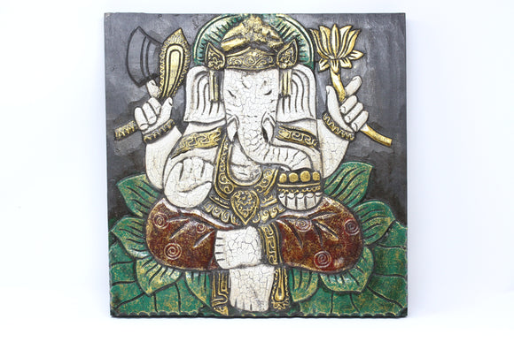 Ganesh Wood Panel