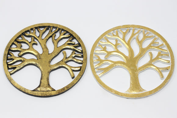 Tree of Life - Gold Washed Wood Art