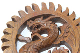 Dragon Wall Art - Hand Carved Wooden Dragon
