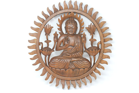 Buddha Lotus Garden - Hand Carved