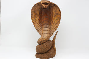 King Cobra Wood Statue
