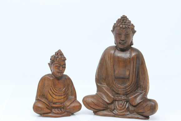 Small Wood Buddha