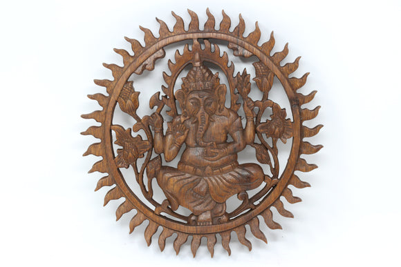 Ganesh Wood Wall Hanging 10