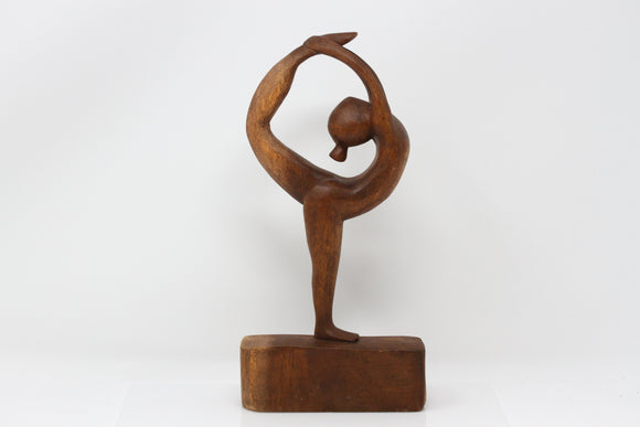 Yoga Dancer Wood Carving