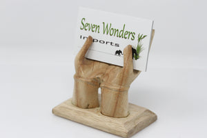 Business Card Holder Wooden Hands