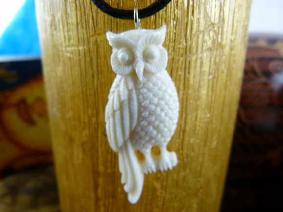 Perched Owl Necklace