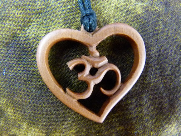 Om Heart Necklace