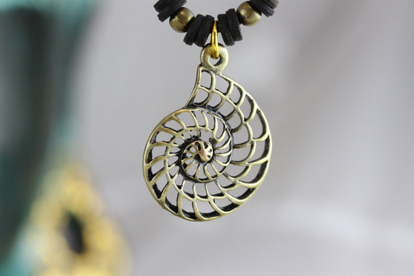 Nautilus Brass Necklace