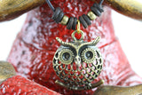 Plump Owl Brass Necklace