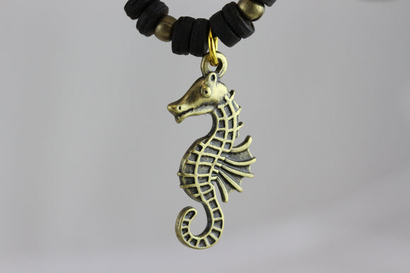 Seahorse Brass Necklace
