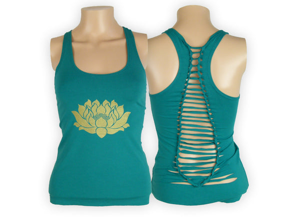 Shredded Tank- Lotus