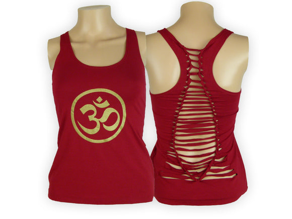 Shredded Tank- Om