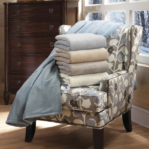 Soft Heat Luxe Plush Warming Throw