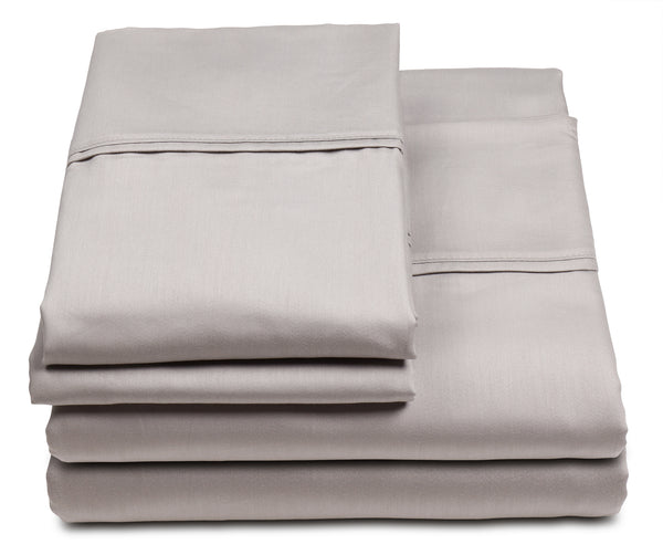Perfect Fit Pure Sleep 300 Thread-Count Cotton-Rich Silver-Infused 3 and 4 Piece-Sheet Set, Naturally Antimicrobial, Fits Mattresses up to 17""