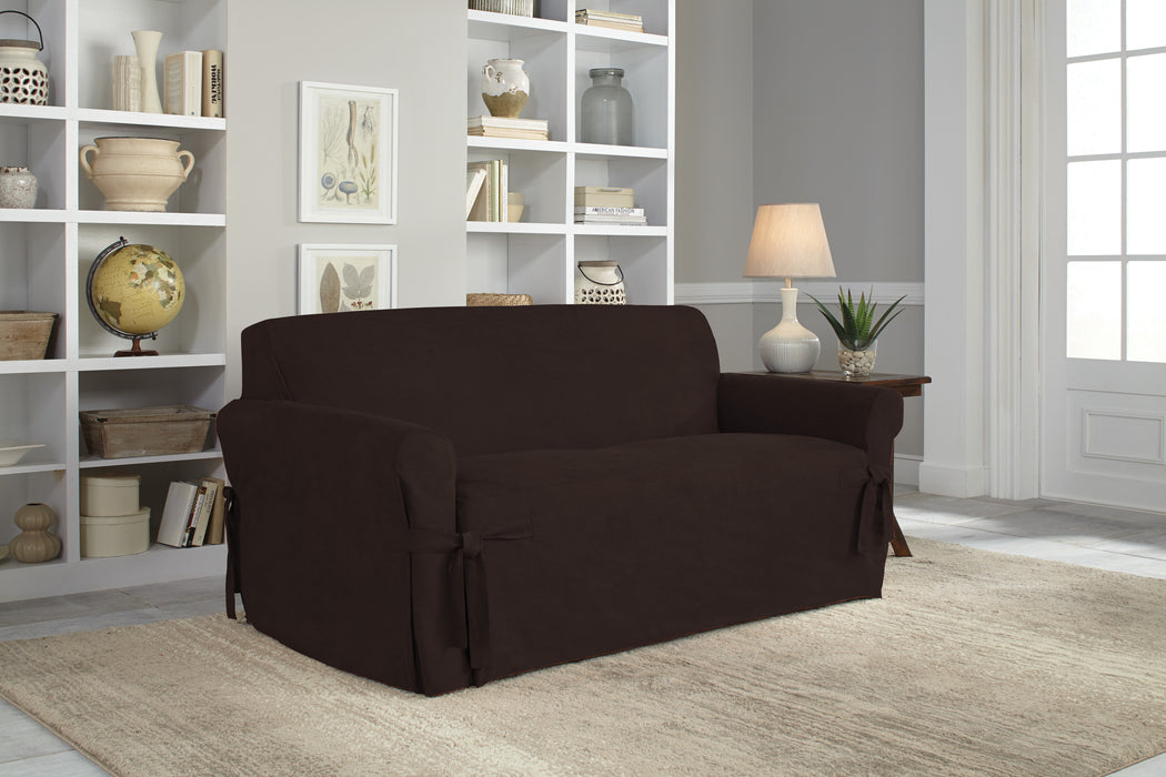 Serta® Relaxed Fit Smooth Suede Furniture Slipcover