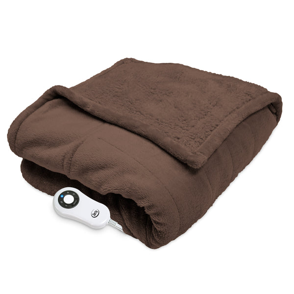 Serta Heated Snuggler Wrap Throw - with 5 Setting Controller