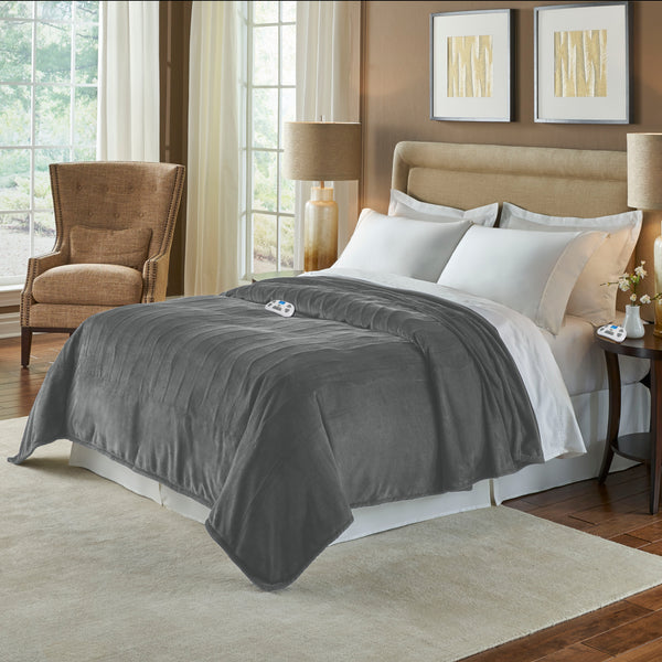 Serta Silky Plush Blanket with Digital Controller