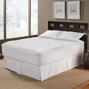 Wellrest Pin Stripe Mattress Pad with NeverWet