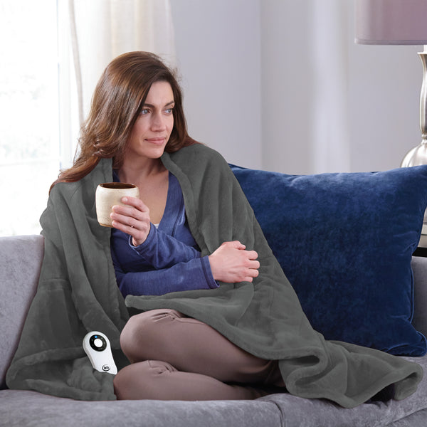 Serta Silky Plush Throw - with 5 setting controller