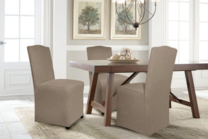 Serta Reversible Microsuede Spandex-Stretch Furniture Slipcovers, Box Cushion and T Cushion, Sofa Slipcover, Loveseat Slipcover, Wingback Chair Slipcover, Dining Chair Slipcover, Machine Washable