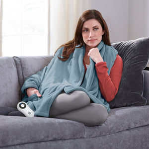 Serta Heated Cuddler Throw with pockets- with 5 setting controller