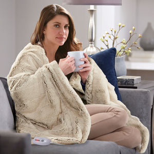 Serta Faux Fur Throw - with 5 Setting Controller
