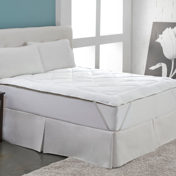 "Pure Sleep Reversible Australian Wool and 100% Cotton Hypoallergenic Mattress Pad, Fits 18"" Mattress, Machine Washable"