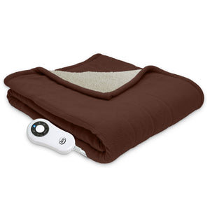 Serta Micro fleece and Sherpa Throw - with 5 Setting Controller