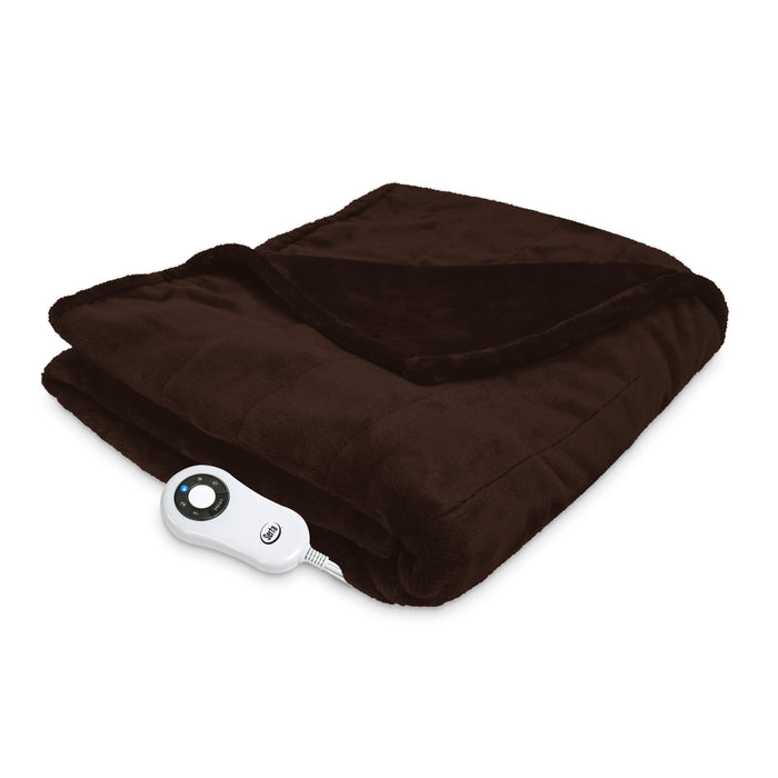Serta® Silky plush Throw - with 5 setting controller