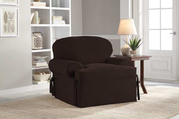 Serta Relaxed Fit Smooth Suede Furniture Slipcover