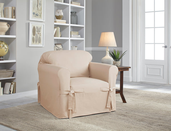 Serta Relaxed Fit Linen Look Furniture Slipcovers, Sofa Cover, Loveseat Cover, Chair Cover, T-Sofa Cover, Machine Washable