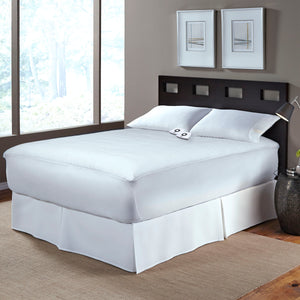 Serta Cotton Blend Mattress Pad - with 5 Setting Controller