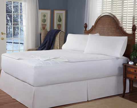 Soft Heat Removable Top Stripe Warming Mattress Pad