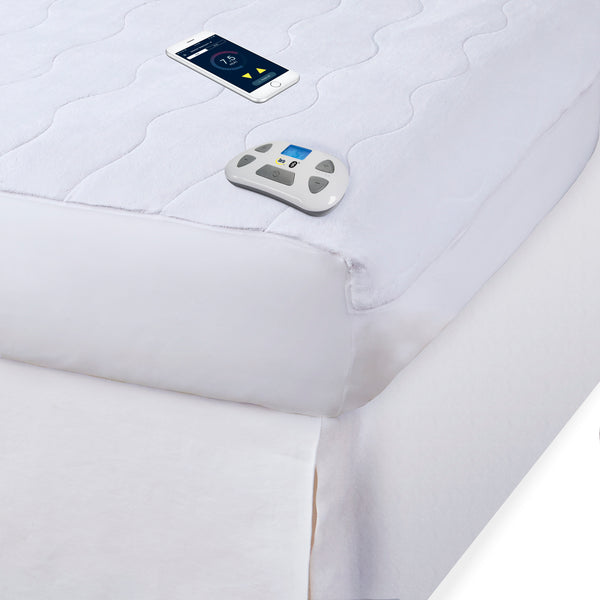 Serta Bluetooth Enabled Ultrasoft Plush Electric Heated Mattress Pad, Pre-Heat Feature, 10 Heat Settings, Auto Shut-Off Safety Feature