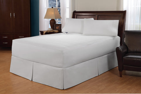 "Perfect Fit Soft Heat 100% Cotton Top Electric Warming Mattress Pad, Safe and Warm Low Voltage and Invisiwire Technology, 11 Heat Settings, 10 Hour Auto Shut-Off and Overheat Protection, Fits 18"" Mattress"