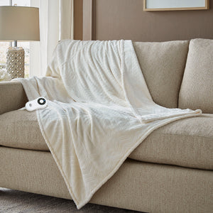 Serta Chevron Embossed Throw - with 5 Setting Controller