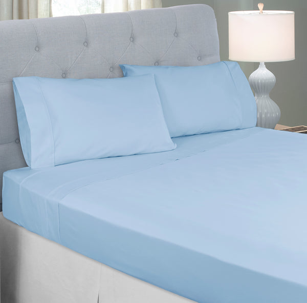 Perfect Fit Pure Sleep 300 Thread-Count Cotton-Rich Silver-Infused Pillowcovers, Naturally Antimicrobial, Fits standard and king size pilllows