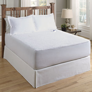 "Serta Sherpa Fleece Electric Warming Mattress Pad, Safe and Warm Low Voltage and Invisiwire Technology, 11 Heat Setting, 10-Hour Auto Shut-Off Safety, Fits 18"" Mattress"