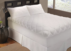 "Perfect Fit Pure Sleep Smooth Top Celessence Allergen Reduction Mattress Pad, Hypoallergenic Fill, 100% Cotton Top, Fits 21"" Mattress"