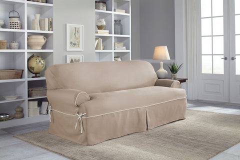 Serta Relaxed Fit Twill Furniture Slipcover