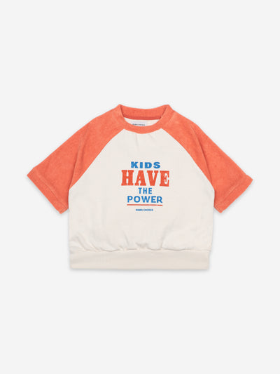 Bobo Choses Kids have the power Short Sleeve Sweatshirt