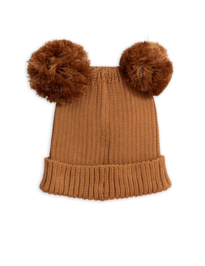 mini rodini ear hat brown