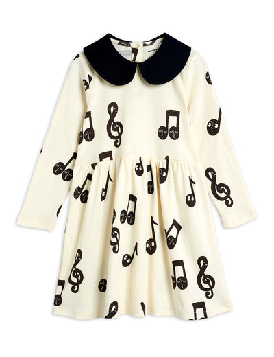 Mini Rodini Notes ls dress